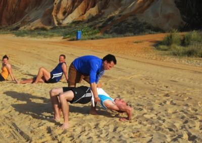 Flexibilität am Strand