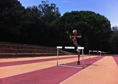 110 m - Hürdenläufer....