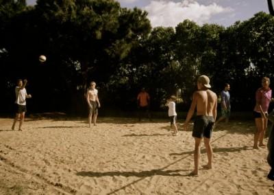 Beachvolleyball mit den Schweden