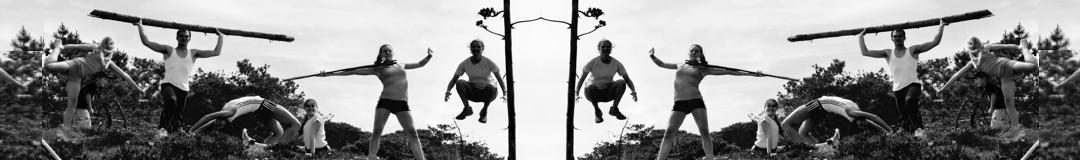 Naturtraining mit Baumstämmen & Co