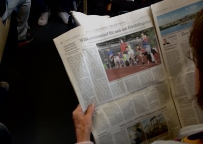 Der Tag danach: interessierte Frau gesichtet in der Bahn!